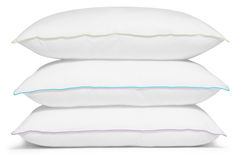 White pillows. Isolated Royalty Free Stock Images