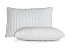 White pillows. Two white pillows isolated on white Stock Photography