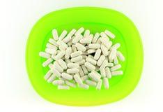 White pills Royalty Free Stock Image