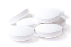 White pills Stock Image