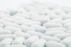 White pills Stock Photos
