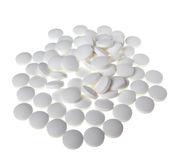 White pills Royalty Free Stock Photos
