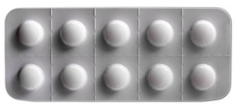 White pills blister pack Royalty Free Stock Images