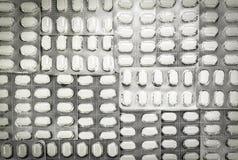 White pills in blister pack Stock Photos
