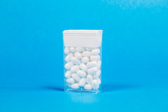 White pills capsules Royalty Free Stock Image