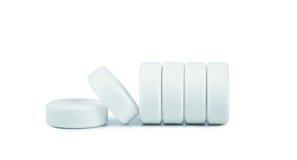 White pills Stock Photos