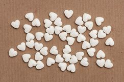 White pills in the form of heart Stock Images