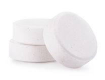 White pills isolated Royalty Free Stock Photography