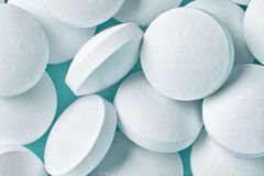 White pills macro Royalty Free Stock Photos