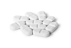 White pills Royalty Free Stock Photo