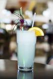 White Pina Colada cocktail  with slice of orange Royalty Free Stock Photos