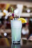 White Pina Colada cocktail  with slice of orange Royalty Free Stock Image