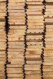White Pine Decking desek rozsypisko - Boczny widok Zdjęcie Royalty Free