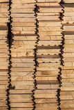 Heap Of New Pinewood Decking Planks - Side View. Heap of newly made White Pine decking planks - side view Royalty Free Stock Photo