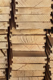 Heap Of New Pinewood Decking Planks - Side View. Heap of newly made White Pine decking planks - side view Royalty Free Stock Images