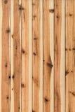 White Pine ha annodato la superficie della parete della capanna delle plance - dettaglio Fotografie Stock Libere da Diritti