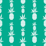 White pineapples. Seamless vector illustration with abstract pineapples Royalty Free Stock Photo