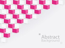 White pink abstract background square 3d modern paper. This is white pink abstract background square 3d modern paper stock illustration