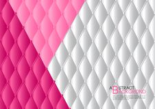 White and pink abstract background vector illustration, cover template layout, business flyer, Leather texture luxury. Can be used in annual report cover design Royalty Free Stock Photo