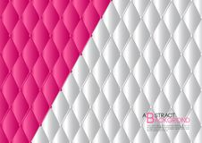 White and Pink abstract background vector illustration, cover template layout, business flyer, Leather texture luxury. Can be used in annual report cover design Stock Images