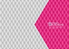 White and pink abstract background vector illustration, cover template layout, business flyer, Leather texture luxury. Can be used in annual report cover design Stock Photo