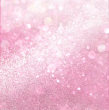 White and pink abstract bokeh lights Royalty Free Stock Photography