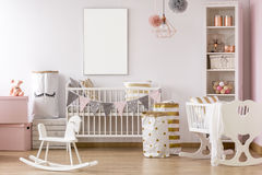 White and pink baby room Stock Photos