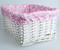 White and pink basket Stock Photos