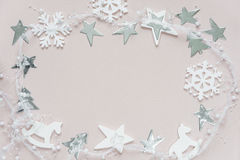 White-pink Christmas composition Royalty Free Stock Photography