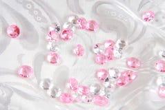 White and pink diamonds Stock Image