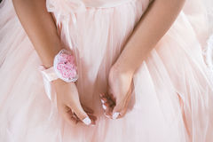 White and Pink Floral Accessory Royalty Free Stock Photography