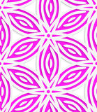 White and pink geometrical flowers seamless pattern Stock Photos