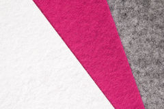 White, pink and grey felt texture Stock Photo