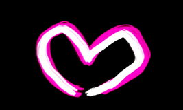 White pink heart Royalty Free Stock Photo