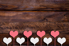 White and pink heart on a stick Royalty Free Stock Images