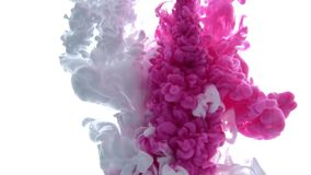 White and Pink inks are mixed in water. Use for backgrounds or overlays requiring a flowing and organic look.