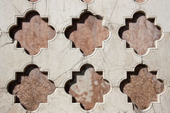 White and pink marble lozenges. Perugia Cathedral Royalty Free Stock Image