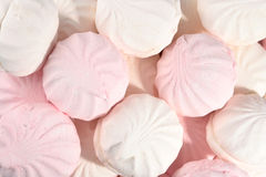 White and pink marshmallow Royalty Free Stock Photos
