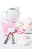 White and pink meringues Royalty Free Stock Photo