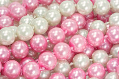 White and pink pearls Royalty Free Stock Image