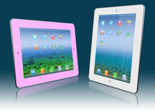 White and pink  pocket pc Stock Photography