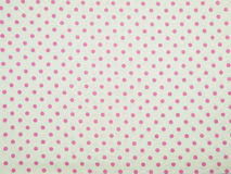 White and pink polka dot background Stock Image
