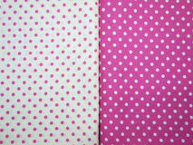 White and pink polka dot background Stock Photo