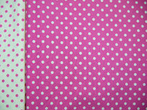 White and pink polka dot background Royalty Free Stock Photography