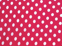 White and Pink polka dots Royalty Free Stock Photography