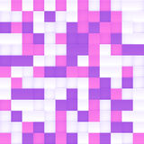 White, pink and purple vector squared mosaic Royalty Free Stock Image