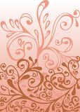 White, pink and red ornament Royalty Free Stock Photo