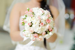 White and Pink Rose Bouquet Royalty Free Stock Image