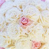 White and pink roses. Close up of a bunch of white and pink roses Royalty Free Stock Photos