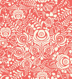 White and pink seamless pattern in Russian style Royalty Free Stock Photos